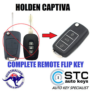 HOLDEN CAPTIVA COMPLETE  LUXURY REMOTE FLIP CAR KEY FOB 2006 - 2015