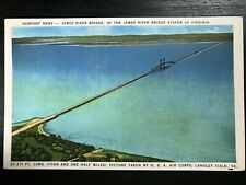 Vintage Postcard>1930-1945>James River Bridge>Newport News>Virginia