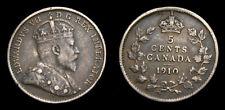 Canada 1910 5 Cents King Edward VII Toned VF+