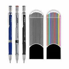 Jovitec 3 Pieces 2.0 mm Mechanical Pencil with 2 Cases Lead Refills, Color an...