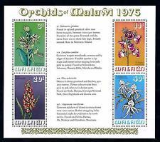 [50768] Malawi 1975 Flora Flowers Blumen Orchids MNH Sheet