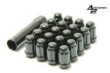 20 Pc JEEP WRANGLER BLACK SPLINE LUG NUTS 1/2-20 With KEY # AP-5650BK