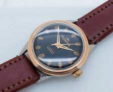 FORTIS 2141 17J Swiss Black Dial/Brown Leather Band 29mm Watch *Repair/Parts*