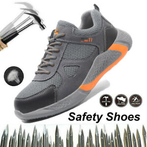 Safety Shoes Mens Lightweight Work Trainers Steel Toe Cap Ladies Shoe Sneaker UK