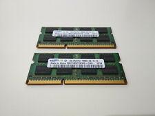 8GB Samsung So Dimm 2x 4GB PC3-10600S DDR3-1333MHz Laptop Ram Arbeitsspeicher
