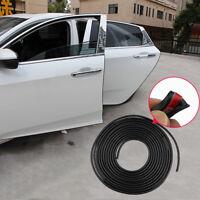 5M Car Door Moulding Rubber Scratch Protector Strip Edge Guard Trim Black
