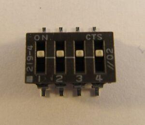 20 Stück - SMD DIP-Schalter 4polig DIP Switch 219-4 - 20pcs