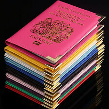 New British UK Passport Holder Protector Cover Wallet PU Leather Cover DSUK
