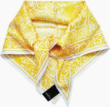 Jim Thompson Triangle Shape Silk Scarf Vintage Pattern +Gift Wrap-Yellow-NWT