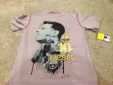 Messi Shirt. Youth Grey Medium Poly T Shirt Tee By Hky Sportswear. New.