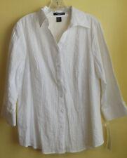 AUTOGRAPH Ladies White Shirt ( Blouse) Size X / NWT