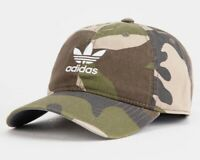 ADIDAS ORIGINALS TREFOIL RELAXED FOREST CAMO STRAPBACK HAT CAP CK4985 NEW