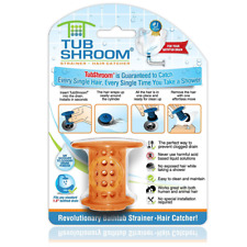 Tubshroom Hair Catcher Strainer Drain Protector for Tub 100 Authentic Orange