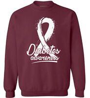 Unisex Diabetes Awareness Sweatshirt Crewneck Gifts for Support