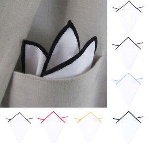 Fashion Men's Pocket Square Handkerchief Solid Handkerchief Wedding Party Formal