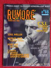 Rivista RUMORE 68/1997 Soul Weller C.S.I. Oasis Primus Hendrix Sensasciou *No cd