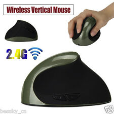 2.4G Wireless Ergonomic Optical USB Vertical Mouse Mice 1600DPI For PC Laptop