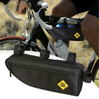 Waterproof Triangle MTB Cycling Bicycle Bike Front Pouch Bag Saddle Frame C0R3