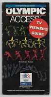 1984 Los Angeles Olympic Games Olympic Access TV Viewers Guide Booklet