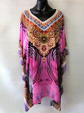 Sheer Chiffon Poly Embellished Kaftan  Digital Printed Size 14-16-18-20-22-24
