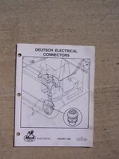 1985 Deutsch Electrical Connectors Service Manual Mack Truck Chassis Contacts  T