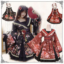 Vintage Gothic Lolita Japanese Harajuku Classical Elegant Kimono Princess Dress