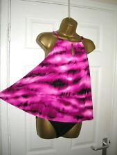 14 SWIMSUIT KIRKLAND MIRACLESUIT SWING TANKINI + BOTTOMS CONTROL HOT PINK