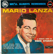 "We'll always remember Mario Lanza A Tribute sung by Enzo Stuarti 12 "" LP (c287)"