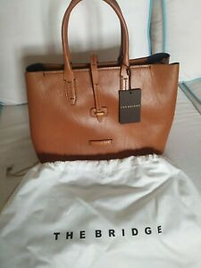 Borsa shopper in pelle The Bridge 04131701 Donna