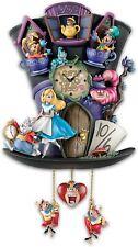 "Disney Alice In Wonderland ""Mad Hatter"" Wall Clock New"