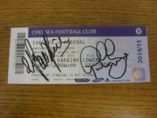 05/10/2014 Autographed Ticket: Chelsea v Arsenal - Hand Signed To Front By Pat R