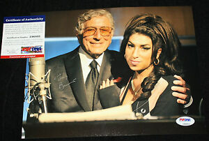 Tony Bennett signed 8 x 10, Duets, Rags to Riches, Proof, PSA/DNA Z96803
