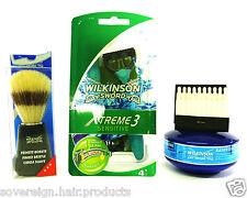WILKINSON SWORD XTREME 3 SAFTEY RAZOR WITH SHAVING SOAP AND SHAVING BRUSH