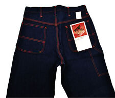 Deadstock Montgomery Ward Carpenter Jeans 32x32 Indigo Blue Rigid Big E Workwear
