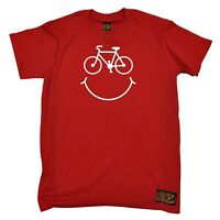 Bicycle Smile Face MENS RLTW T-SHIRT tee cycle cycling bicycle birthday gift