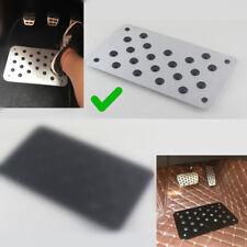Aluminum Car Floor Carpet Mat Patch Heel Scuff Plate Foot Rest Pedal Pad 28*16cm