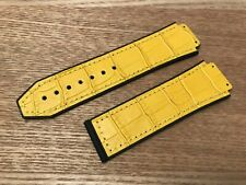 24 26 29mm For HUBLOT Big Bang Watch Silicone Rubber Leather Strap Band Yellow