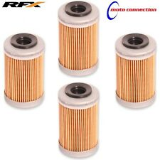 RFX RACE SERIES ENGINE OIL FILTERS x4 FOR 2017 KTM SXF250 SXF350   50400
