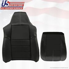 2008 to 2010 Ford F250 F350 Lariat Driver Bottom/Top Leather Seat Covers BLACK