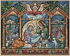 Christmas Nativity Stained Glass Counted Cross Stitch Chart No. 4-451/2