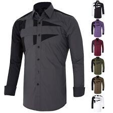 Designer Mens Custom Fit Long Sleeve Mens Stylish Shirt Dress Casual Shirts Tops