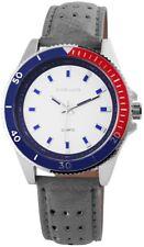Herrenuhr Weiß Blau Rot Grau Analog Metall Leder Quarz Armbanduhr X-295122800008
