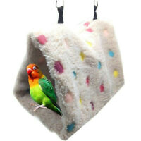 WarmWinter Bird Hut Toy Triangle Nest Pet Hammock Hang Cave Bed Parrot Tent Cage