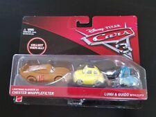 Disney Pixar Cars 3 Mattel Multi-Pack Chester Whipplefilter,Luigi & Guido/Gift