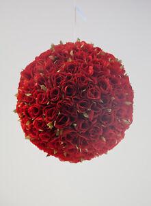 ROSE POMANDER FLOWER BALL 30CM 2 COLOURS DIAMETER WEDDING DECOR CENTREPIECE