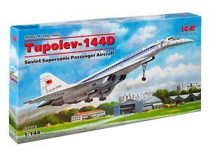 ICM 14402 Soviet Supersonic Passenger Aircraft Tupolev-144D 1/144