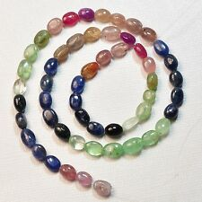 """Natural Organic Emerald Ruby Sapphire Tumbled Nugget Beads 14"""" Strand"""