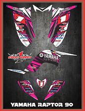 Yamaha Raptor 90 SEMI CUSTOM GRAPHICS FREE CUSTOMIZATION KIT LIGHTNING2
