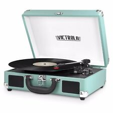 Victrola Portable Suitcase Record Player Turntable With Bluetooth 550BT-TU-New