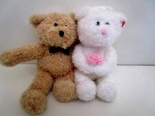 "Blissful Wedding Day Bears  Ty 2007 Beanie Babies  6"" tall"